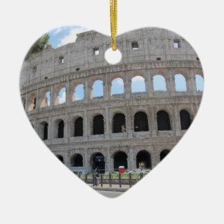 Colosseum Rome On! Ceramic Heart Ornament
