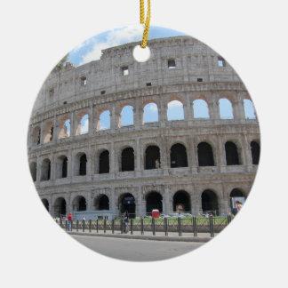 Colosseum Rome On! Round Ceramic Ornament