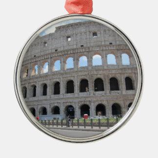 Colosseum Rome On! Silver-Colored Round Ornament