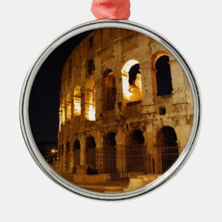 Colosseum Silver-Colored Round Ornament