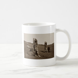 Colossi and Sphynx at Wady Saboua, Nubia Francis F Classic White Coffee Mug