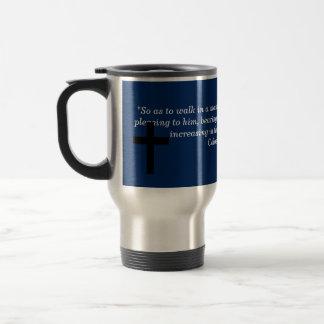 Colossians 1:10 travel mug