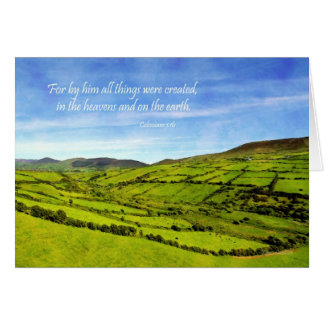 Colossians 1:16 Landscape from Ireland Card