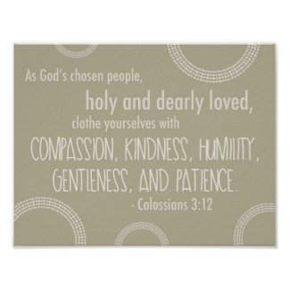 Colossians 3:12 Poster