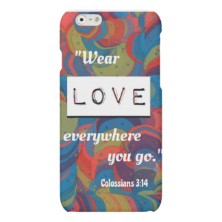 Colossians 3:14 iPhone 6 case