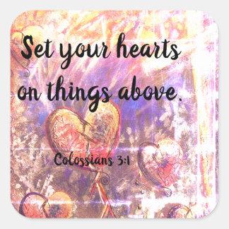 Colossians 3:1 Christian Bible Scripture Stickers