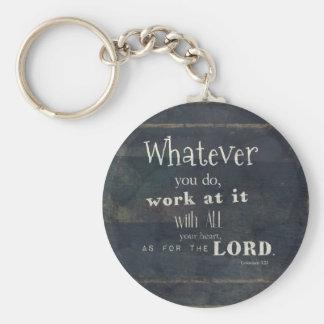 Colossians 3:23 Bible Verse, Scripture art Keychain