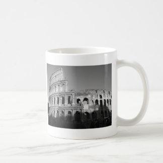Colossium black and white coffee mug