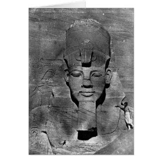 Colossus of Abu Simbel, Nubia ~ 1850 Greeting Card