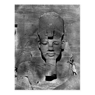 Colossus of Abu Simbel, Nubia ~ 1850 Postcard