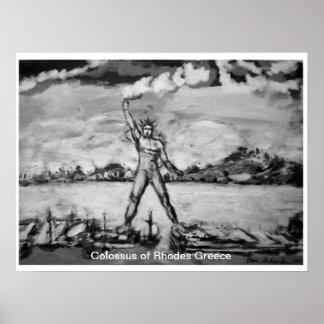 Colossus of Rhodes Greece by Ben Schneider Poster