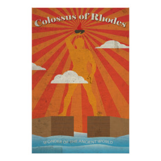Colossus of Rhodes the Ancient Wonder Poster