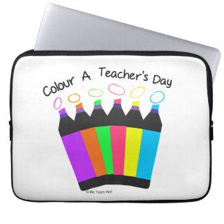 Colour a Teacher's Day  laptop sleeve