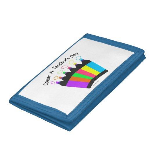 Colour a Teacher's Day  nylon trifold wallet