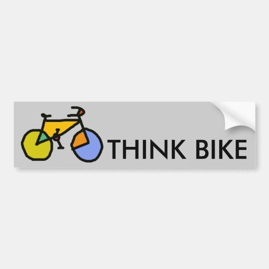 colour bike bumper sticker
