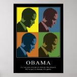 """Colour Blind"" Obama Poster"