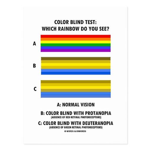 Colour Blind Test (Colours Of Rainbow Vision Test) | Zazzle