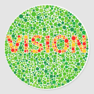 Colour Blindness Vision Classic Round Sticker