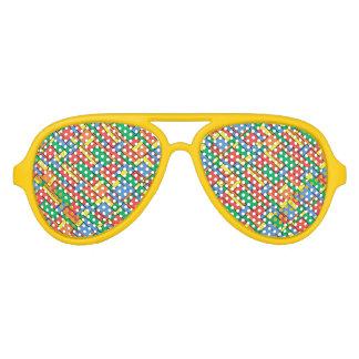 Colour blocks aviator sunglasses