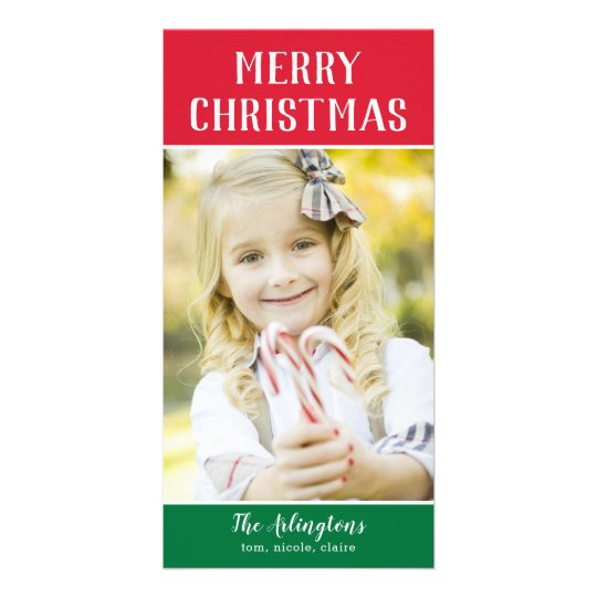 Colour Blocks Editable Greeting Holiday Card