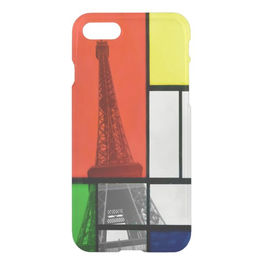 Colour Blocks Eiffel Tower iPhone 8/7 Case