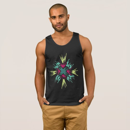 Colour Burst Abstract Tank