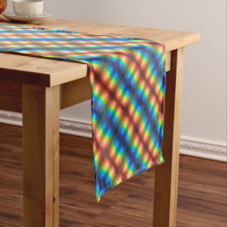 Colour Chaos abstract. Short Table Runner