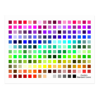 Colour Chart Reference Tool Postcard