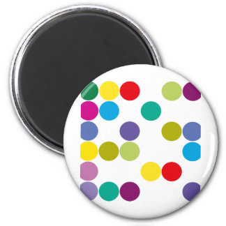 Colour Circles Products & Designs! 2 Inch Round Magnet