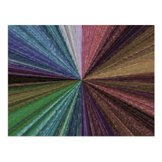 Colour Circular Rainbow Array 2 Postcard