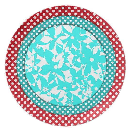 Colour Compliments - Red and Turquoise Plate