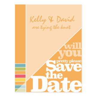 Colour Creative Funky Save the Date Post Card