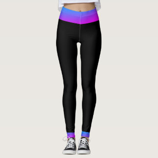 colour cuff leggings