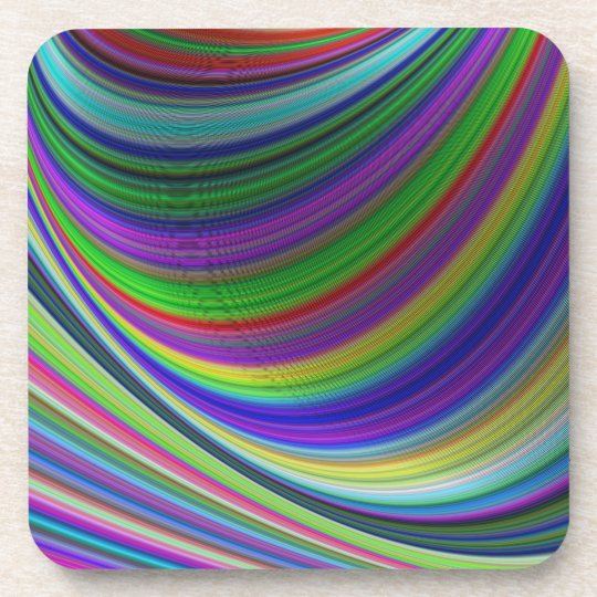 Colour curves coaster
