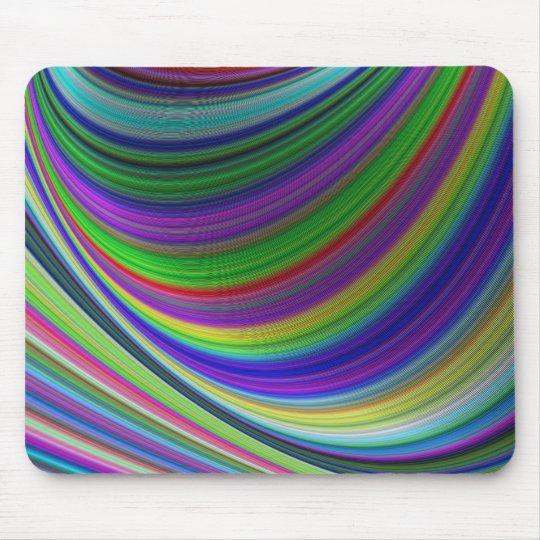 Colour curves mouse pad