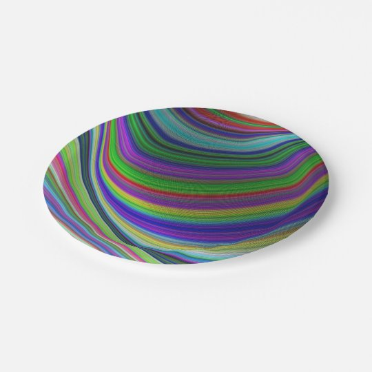 Colour curves paper plate