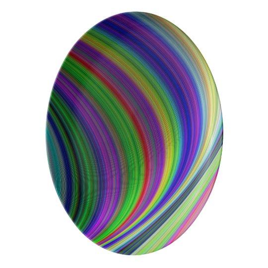Colour curves porcelain serving platter
