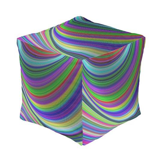 Colour curves pouf