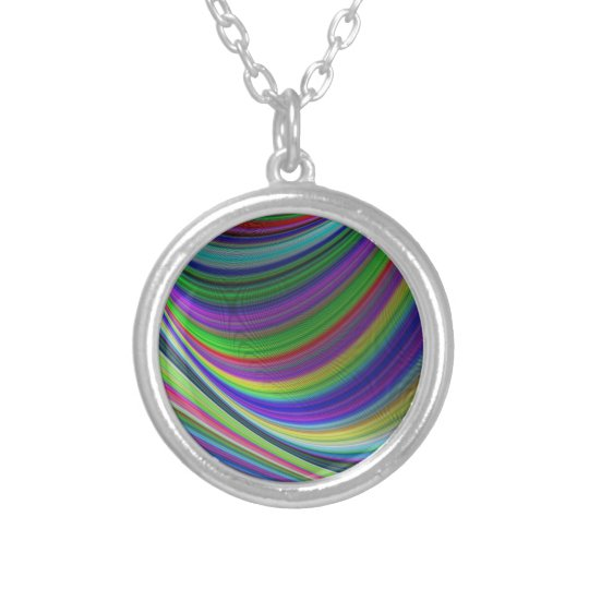Colour curves silver plated necklace