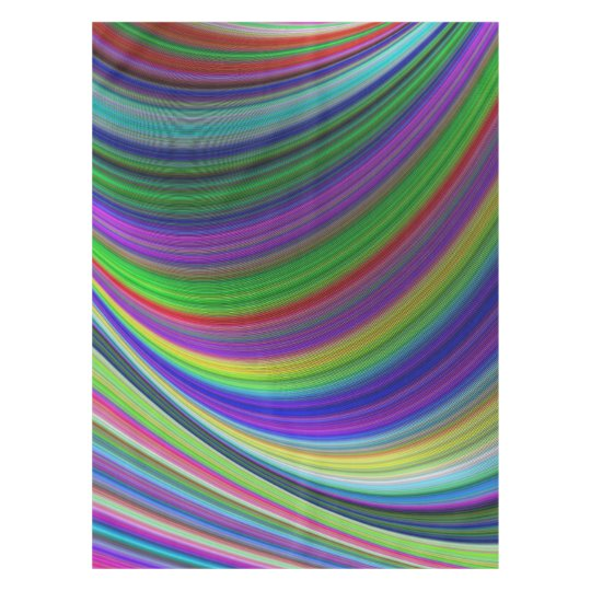 Colour curves tablecloth