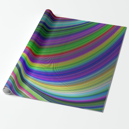 Colour curves wrapping paper