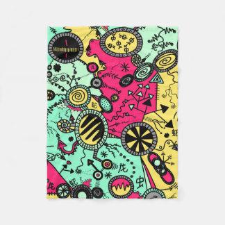 Colour Doodle Fleece Blanket