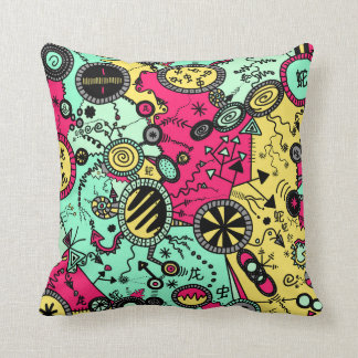 Colour Doodle Throw Pillow