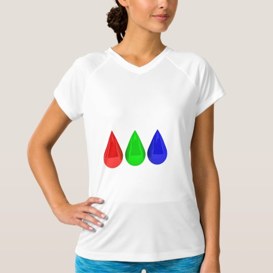 Colour Drops Womens Active Tee