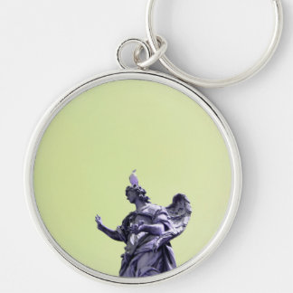 Colour effect, filtered, modern simple photography Silver-Colored round keychain