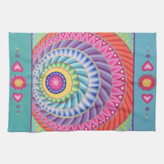 Colour Explosion Mandala Teatowel Kitchen Towel