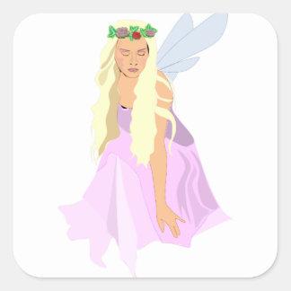 colour fairy square sticker
