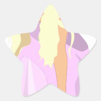 colour fairy star sticker