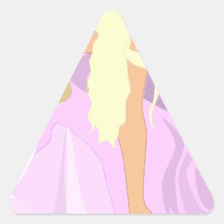 colour fairy triangle sticker