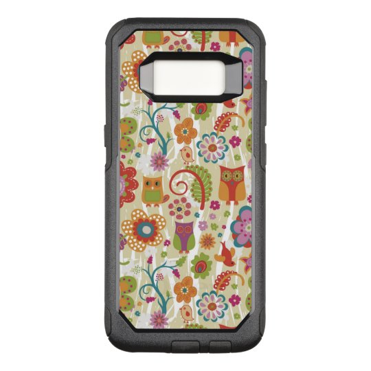 Colour Floral and Owl OtterBox Commuter Samsung Galaxy S8 Case